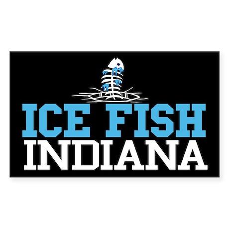 Ice Fish Indiana Rectangle Sticker