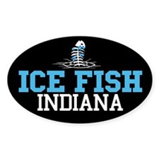 Ice Fish Indiana Oval Decal