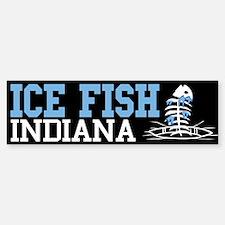 Ice Fish Indiana Bumper Bumper Bumper Sticker