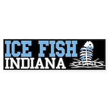 Ice Fish Indiana Bumper Bumper Sticker