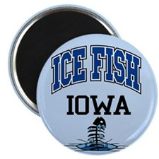 Ice Fish Iowa Magnet