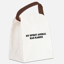 My Spirit Animal Has Rabies Canvas Lunch Bag