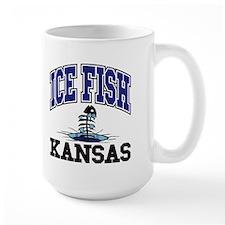 Ice Fish Kansas Mug