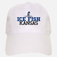 Ice Fish Kansas Baseball Baseball Cap