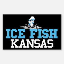 Ice Fish Kansas Rectangle Decal