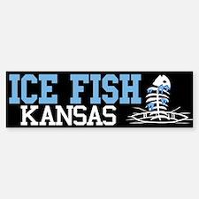Ice Fish Kansas Bumper Bumper Bumper Sticker