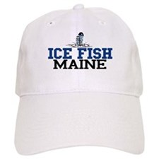 Ice Fish Maine Baseball Cap