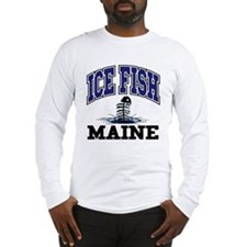 Ice Fish Maine Long Sleeve T-Shirt