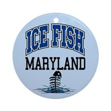 Ice Fish Maryland Ornament (Round)