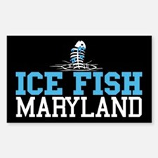 Ice Fish Maryland Rectangle Decal