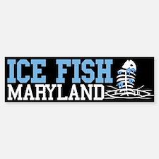 Ice Fish Maryland Bumper Bumper Bumper Sticker