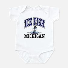 Ice Fish Michigan Infant Bodysuit