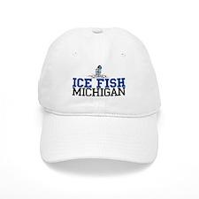 Ice Fish Michigan Baseball Cap