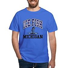 Ice Fish Michigan T-Shirt