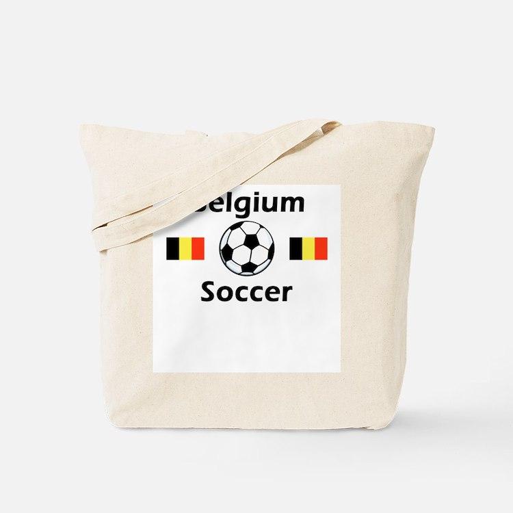 Belgium Soccer Tote Bag