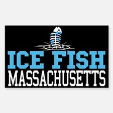 Ice Fish Massachusetts Rectangle Decal