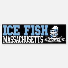 Ice Fish Massachusetts Bumper Bumper Bumper Sticker