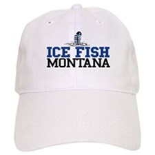 Ice Fish Montana Baseball Cap