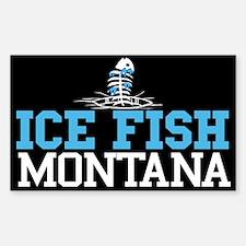 Ice Fish Montana Rectangle Decal
