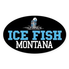 Ice Fish Montana Oval Decal