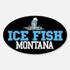 Ice Fish Montana Oval Decal