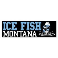 Ice Fish Montana Bumper Bumper Sticker