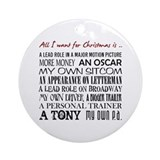 Actress Round Ornaments