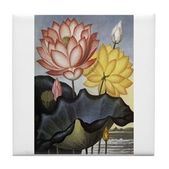 Water Lilies Art Tile Coaster