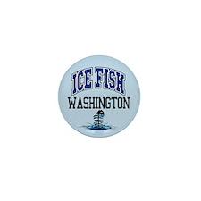 Ice Fish Washington Mini Button