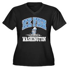 Ice Fish Washington Women's Plus Size V-Neck Dark