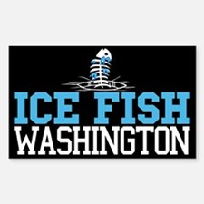 Ice Fish Washington Rectangle Decal