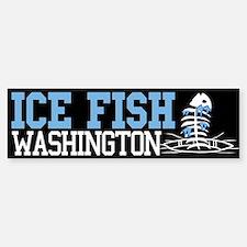 Ice Fish Washington Bumper Bumper Bumper Sticker