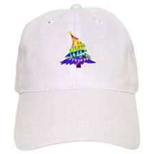 GLBT Merry Christmas Tree - Baseball Cap