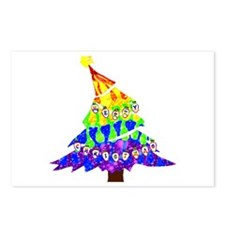 GLBT Merry Christmas Tree - Postcards (Package of