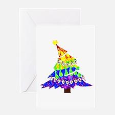GLBT Merry Christmas Tree - Greeting Card