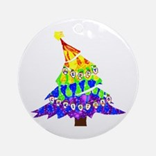 GLBT Merry Christmas Tree - Ornament (Round)