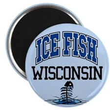 Ice Fish Wisconsin Magnet