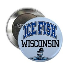 "Ice Fish Wisconsin 2.25"" Button"