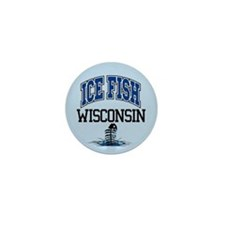 Ice Fish Wisconsin Mini Button