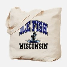 Ice Fish Wisconsin Tote Bag