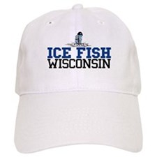Ice Fish Wisconsin Baseball Cap