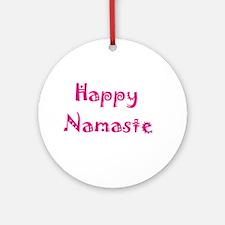Happy Namaste Pink Ornament (Round)