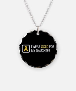 Childhood Cancer: Gold For M Necklace