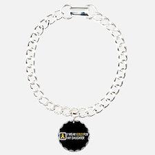 Childhood Cancer: Gold F Bracelet