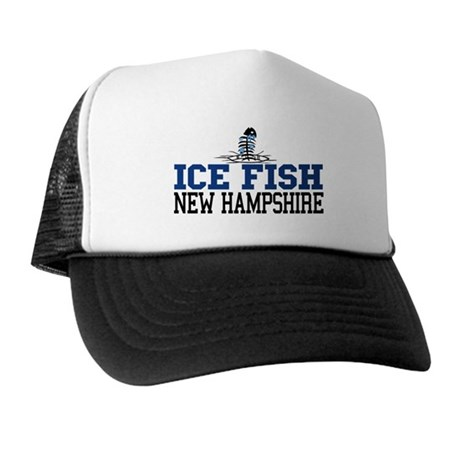Ice fish new hampshire trucker hat by tgdesigns for Ice fishing nh