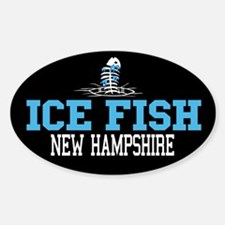 Ice Fish New Hampshire Oval Decal