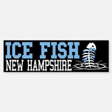 Ice Fish New Hampshire Bumper Bumper Bumper Sticker