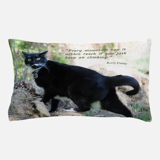 Mounteneering cat Pillow Case