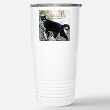 Mounteneering cat Travel Mug