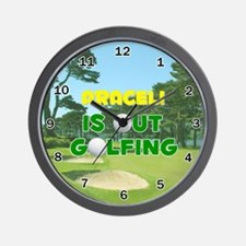 Araceli is Out Golfing - Wall Clock